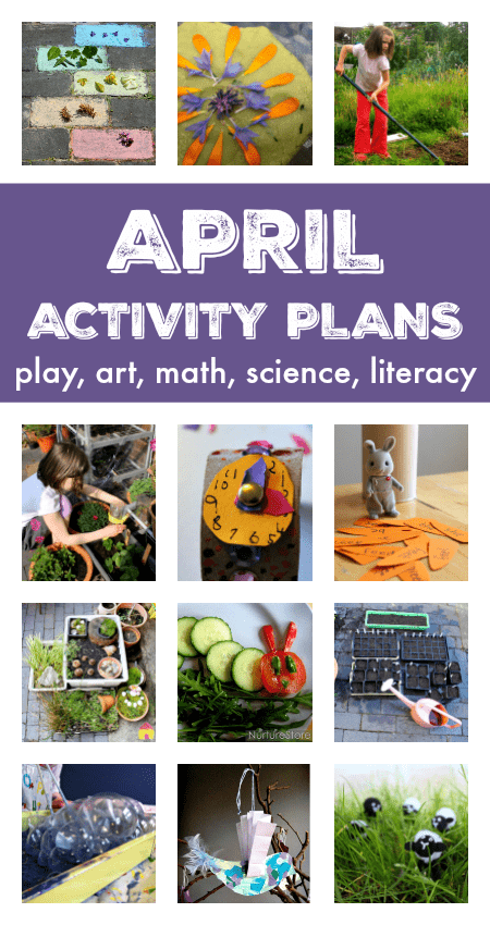 A fantastic resource of things to do in April with your kids - a full month of activity plans and lesson plans for April