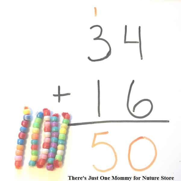double digit addition teaching tools