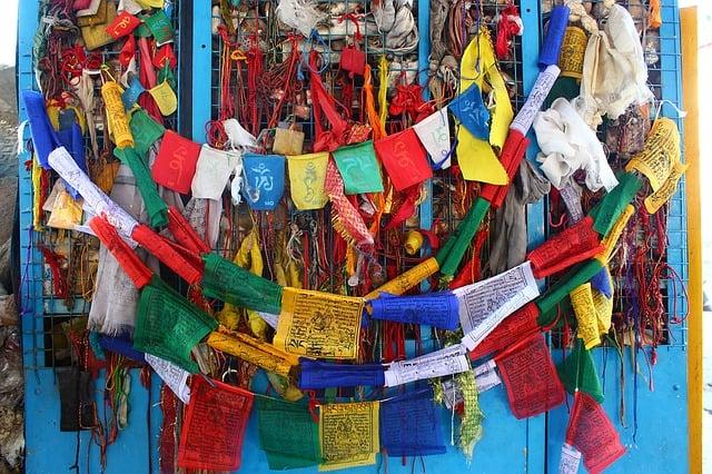 Buddhist prayer flag craft for chidren