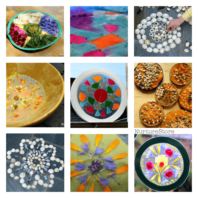 Buddhist mandala crafts for children