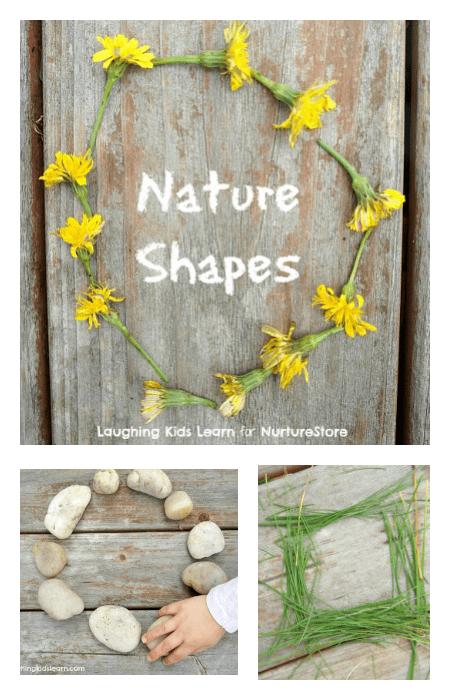 Super ideas for math outdoors - nature shape activities