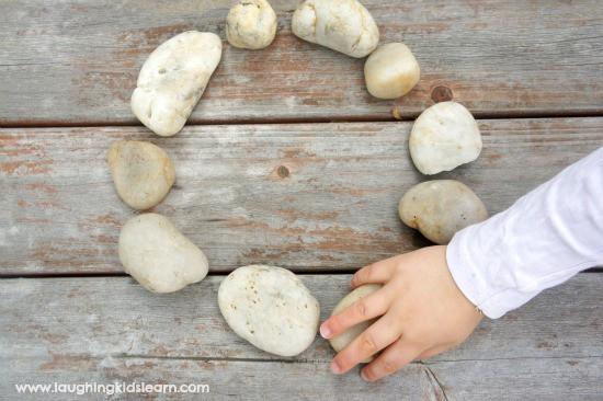nature shapes making circles with rocks