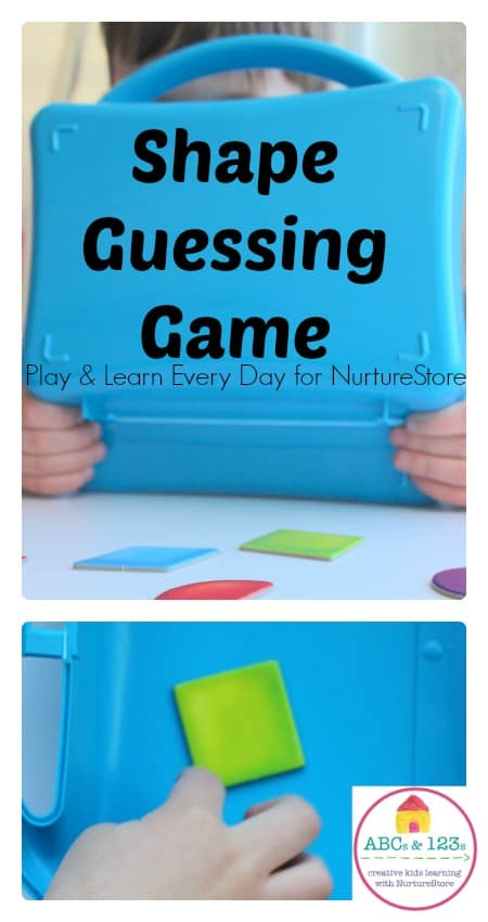 Super easy and fun shape guessing game for toddlers, preschool and older children. Fun shapes activity for home or school.