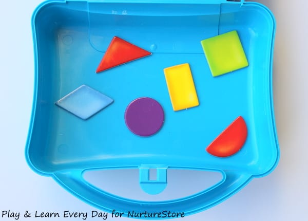 shape guessing game - shapes in box