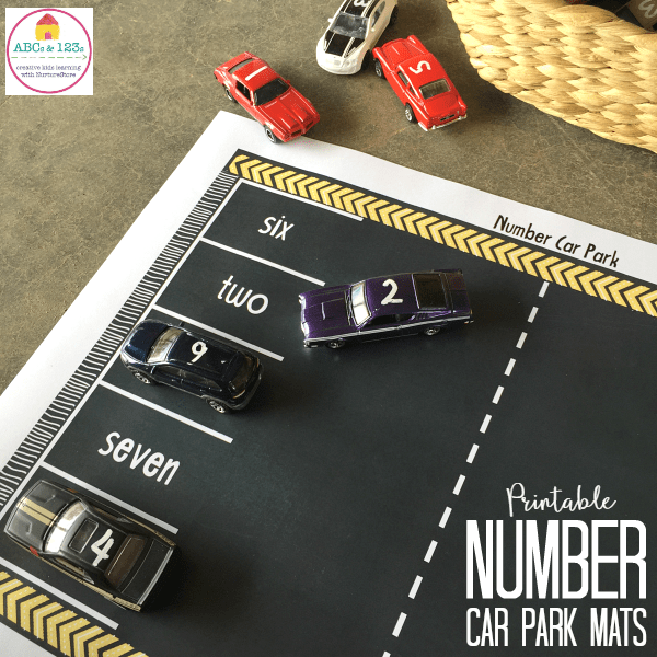 cars printable number recognition activity