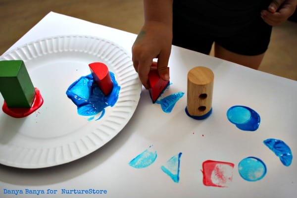 Painting 2D Shapes with 3D Blocks {Geometry Art for Kids ...