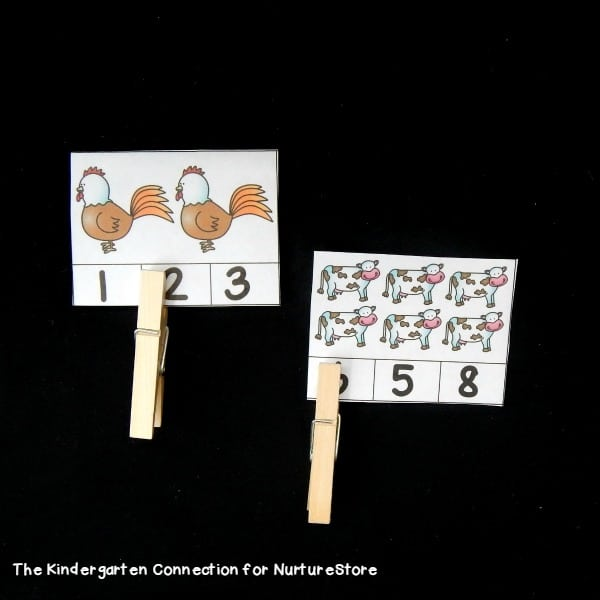 clothes pin counting game printable