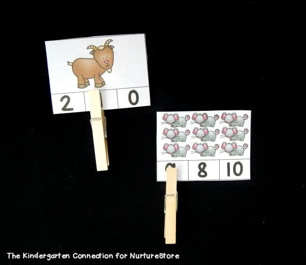 counting animals printable