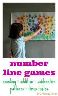 flower-number-line-games
