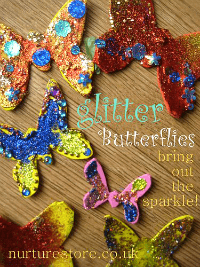 glitter butterfly craft