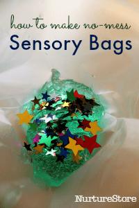 no mess sensory bags