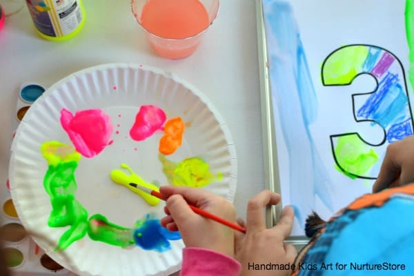 paint resist numbers activity