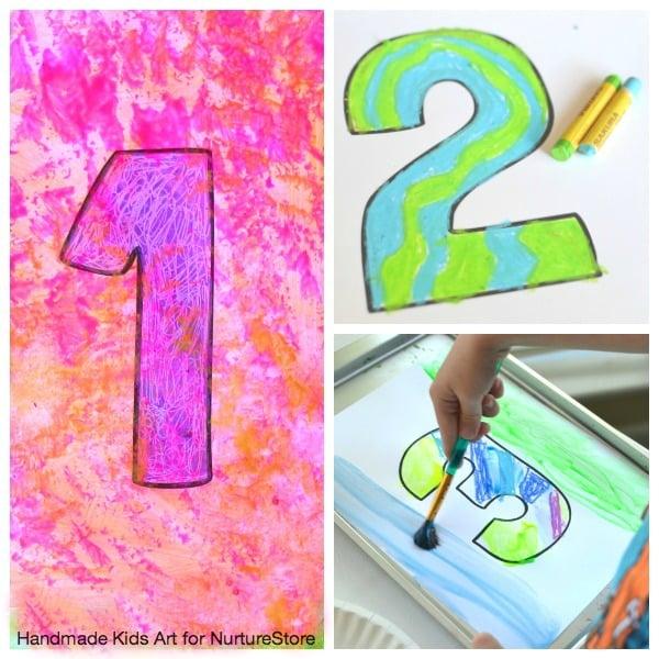Jasper Johns inspired art project for kids