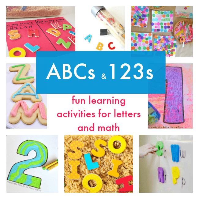 Fun learning activities for letters and math