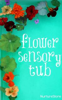 flower-sensory-tub-water