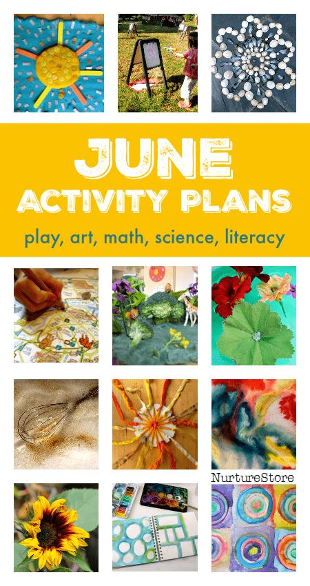 June activity plans :: summer bucket list ideas :: things to do with kids in June :: seasonal activity calendar :: summer screen free play ideas