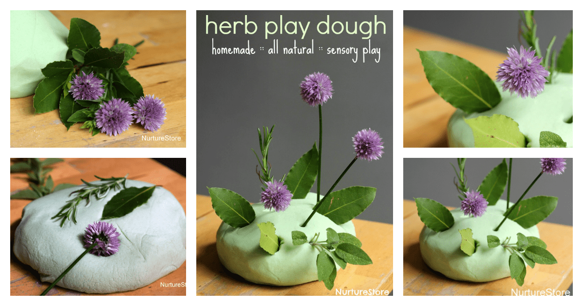 All Natural Homemade Play Dough Recipe With Herbs