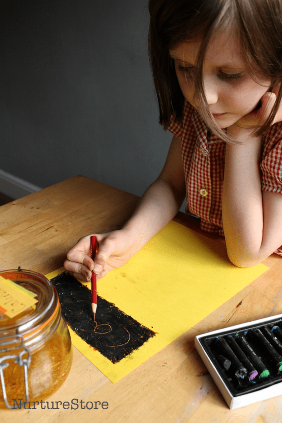 scratch art projects for kids
