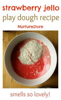 strawberry-jello-play-dough-recipe