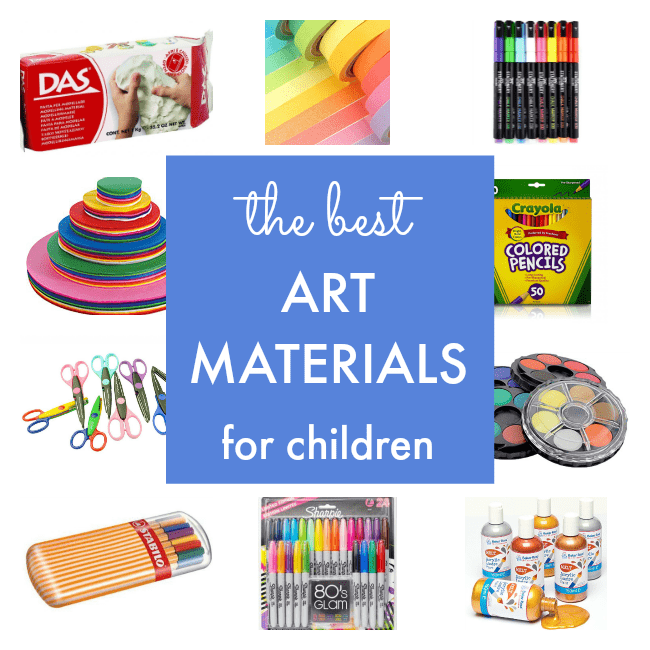 Top 40 best art materials for children nurturestore for Waste material art for kids