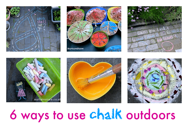 ways to use chalk outdoors