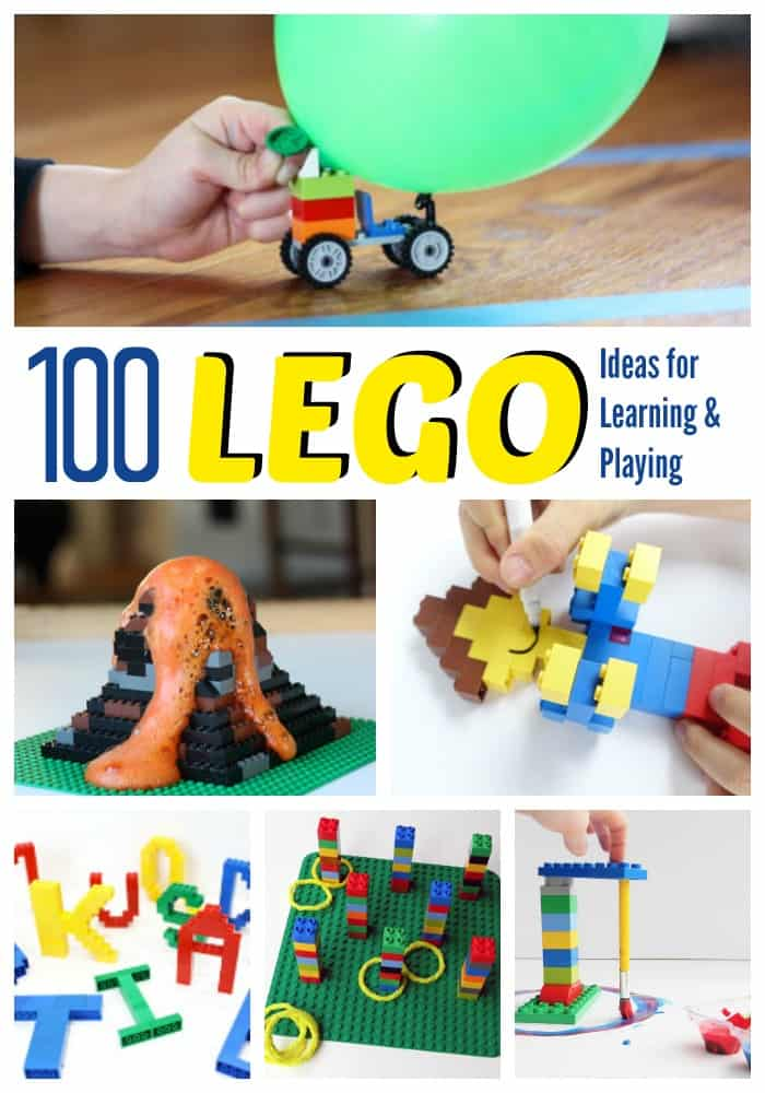 100 Lego Ideas for Learning and Playing :: Lego activities :: Lego math ideas :: Lego science activities
