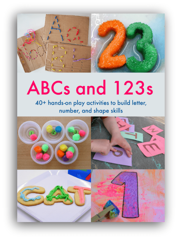 40+ hands on play activities to build letter, number, and shape skills