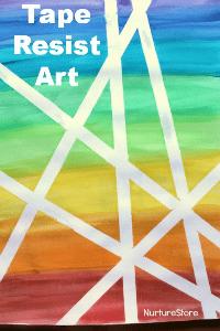 watercolour-washi-tape-resist-art