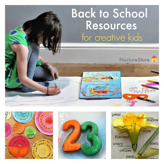 What a treasure trove of ideas! :: Back to school resources for creative kids :: homeschool resources :: arts based curriculum