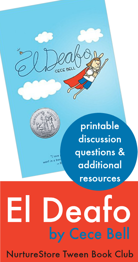 El deafo teaching guide :: tween book club discussion questions for El Deafo by Cece Bell