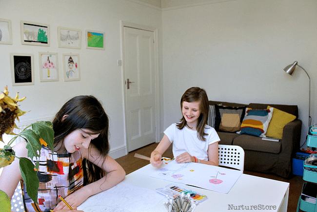 Homeschool Classroom Design ~ A creative and simple homeschool room for tweens