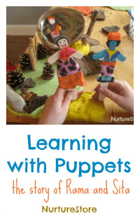 rama-amd-sita-puppets-diwali-activity