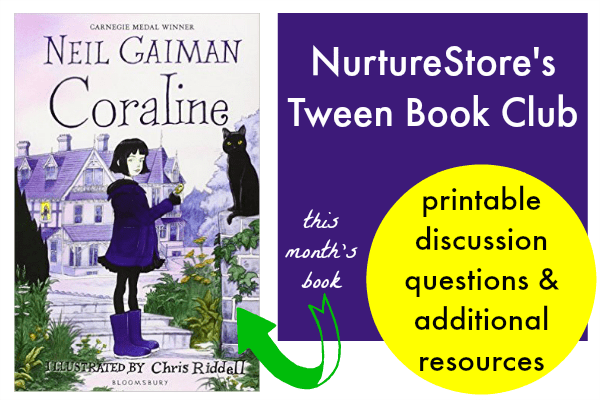 picture regarding Printable Book Club Questions titled Coraline e-book club materials and coaching lead - NurtureStore