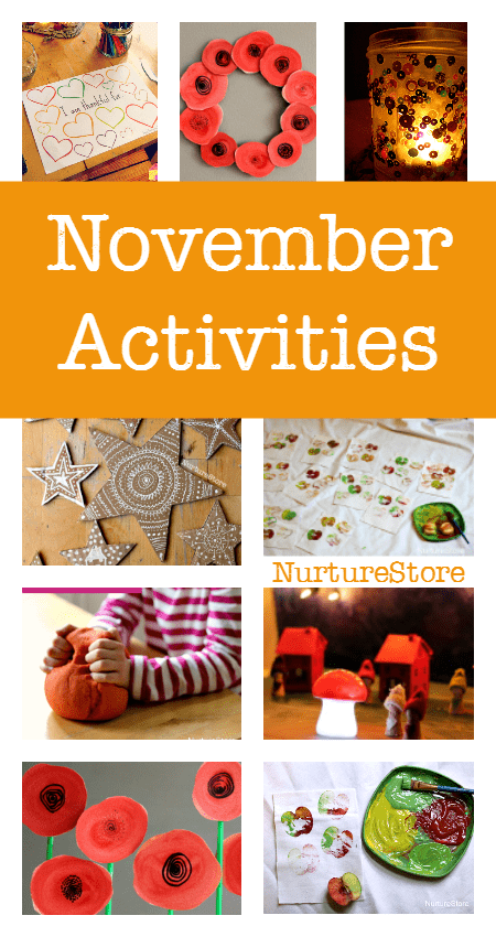 Looking for things to do with children in November? These November activity plans are perfect for play-based, creative learning. Thanksgiving crafts and printables