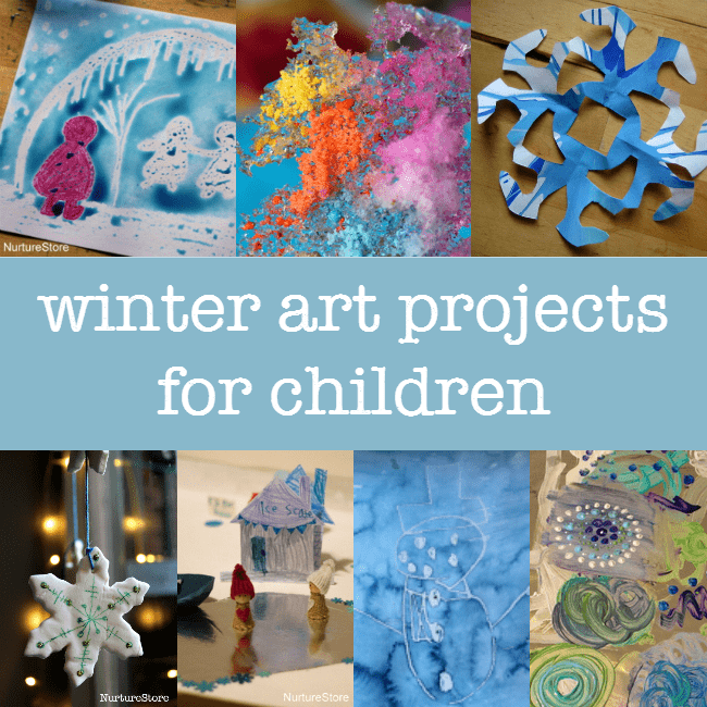 Winter art projects for children :: winter crafts :: snow crafts for kids