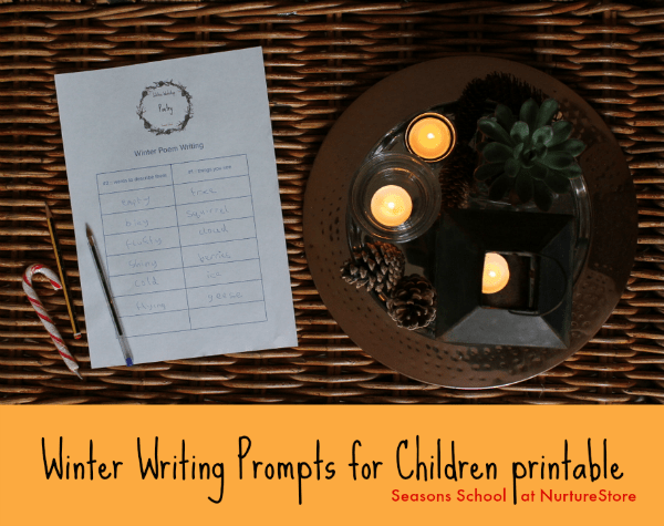 Winter writing prompts for children