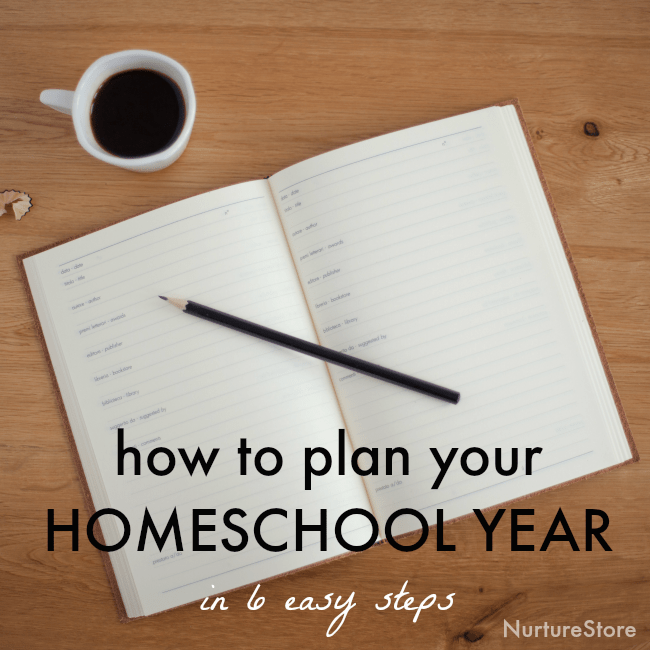 easy way to plan your home school year
