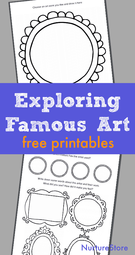 children's art appreciation lesson printables, exploring famous art with children