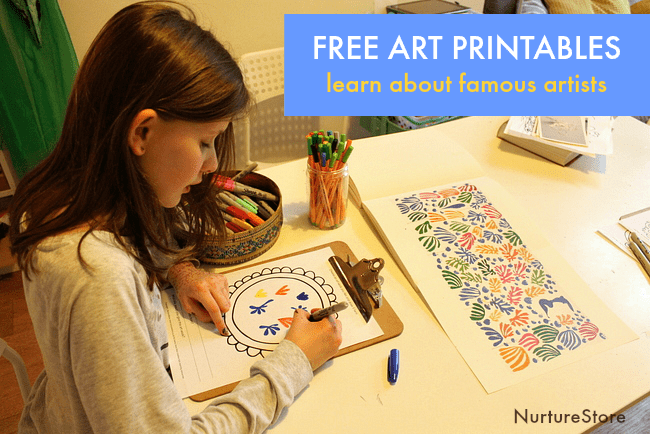 famous artist printables for children