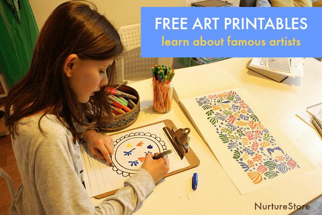 famous artist printables for children