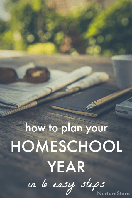 How to plan your homeschool year the easy way