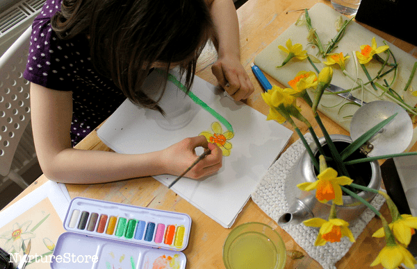 how-to-paint-daffodils