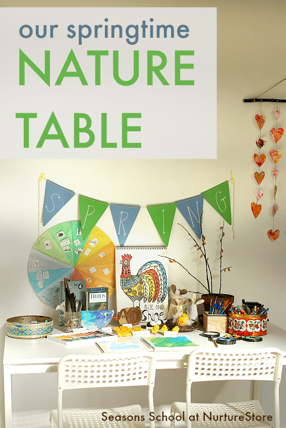 how to make a spring nature table ideas