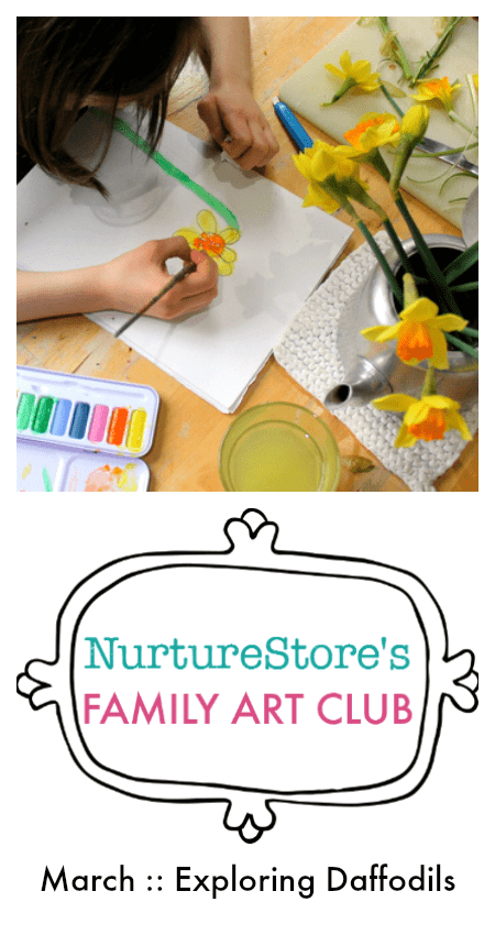 Join the online art lessons for children and families :: daffodil art project for kids