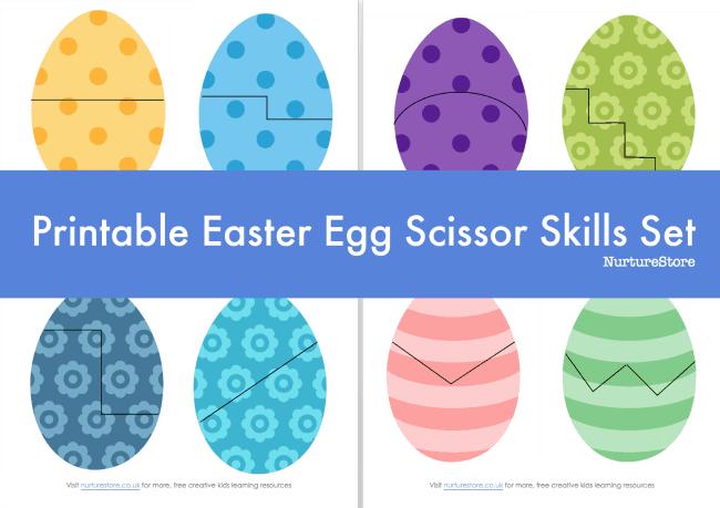 easter egg scissor skills printable