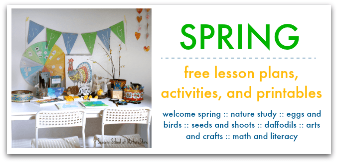 spring lesson plans and printables