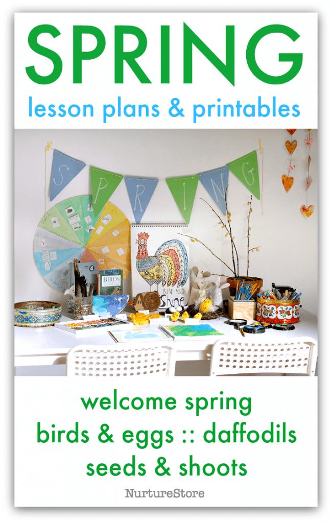 spring lesson plans printables 3d