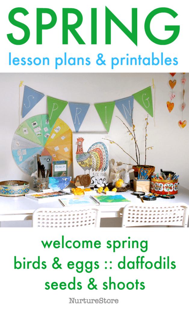 spring lesson plans printables