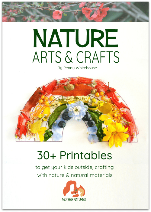 Nature art and craft printables for forest school, nature study and learning outdoors