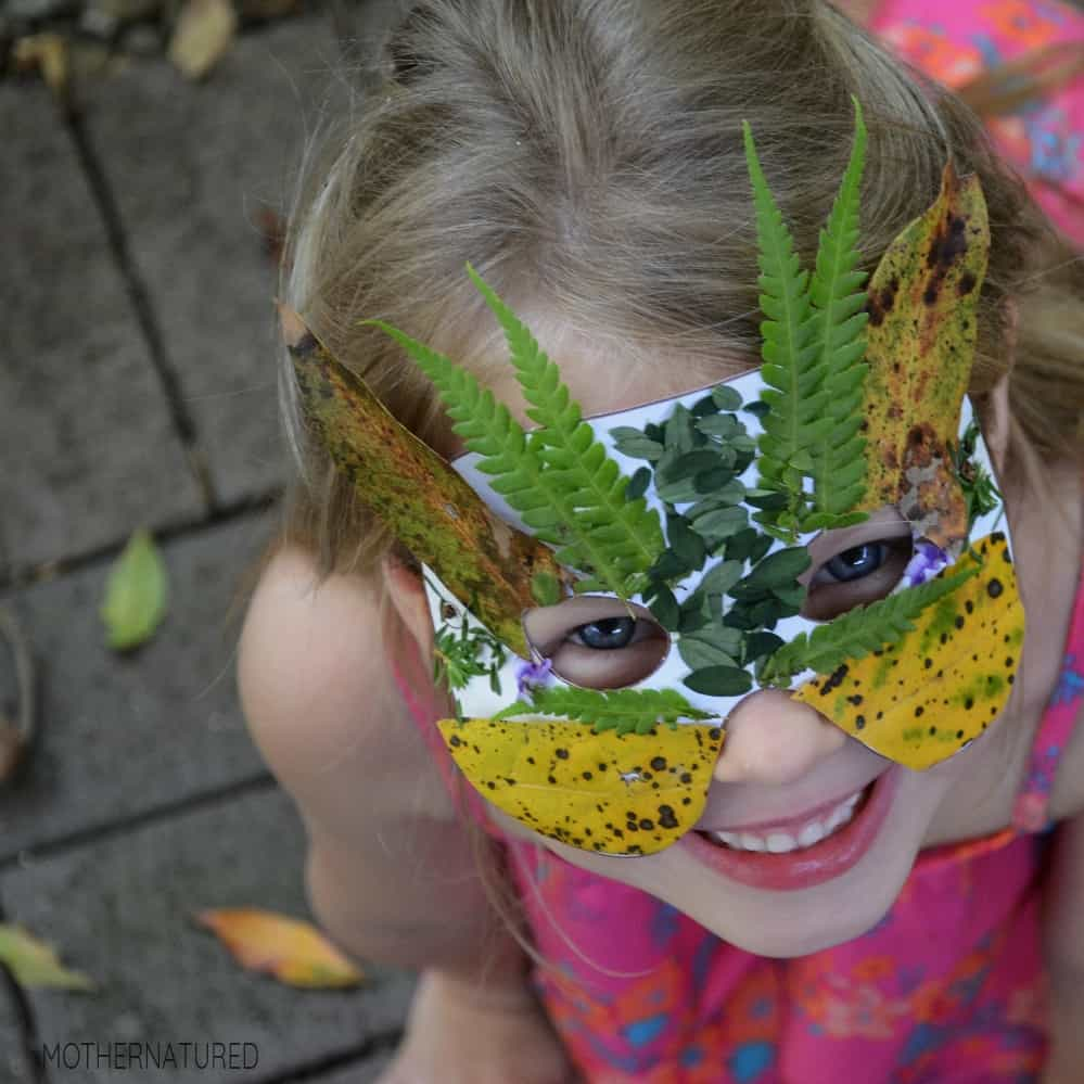 simple nature mask crafts for children